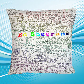 Pillow Custom Home Decor ED Sheeran Colorfull Design Print 2 Side Cushion Square Size 16x16 18x18 20x20 inch