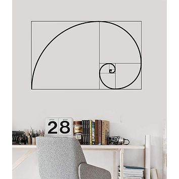 Vinyl Wall Decal Golden Ratio Geometry Math School Mural Stickers Unique Gift (ig3637)