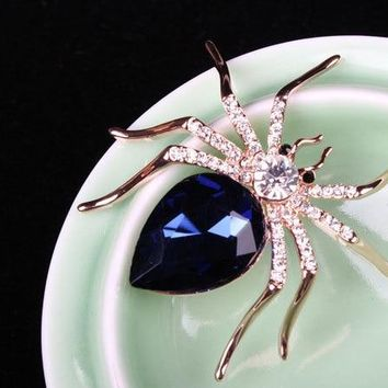 New Fashion vintage jewelry Austria Crystal Spider brooch Pin up Wedding Bridal Brooch For Wedding the hunger games