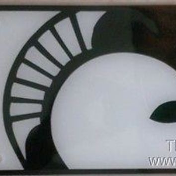 Michigan State Spartans PRINT Deluxe Acrylic Laser License Plate Tag University