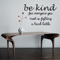 Be Kind Quote Vinyl Wall Decal Sticker Art Decor Bedroom Design Mural love family life