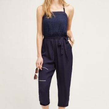 Lilka Rhia Halter Jumpsuit in Navy Size: