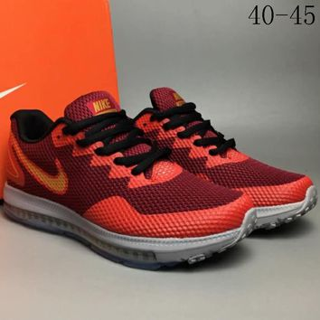 NIKE ZOOM ALL OUT LOW2 shock absorption technology running shoes F-CSXY red