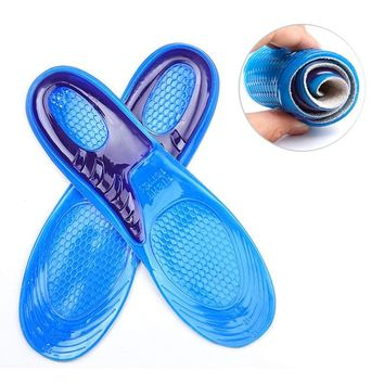 MWSC Silicone Gel Insoles Man Women Insoles orthopedic Massaging Shoe Inserts Shock Absorption Shoepad