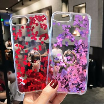 For IPhone 6 6s 7 8 Plus New Cute 3D Glittering Love Flow Sand Anti-knock Diamond Case Cover Dallas Cowboys Jersey Purse Fornite