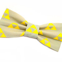 Zelda Triforce Bow Tie, with Adjustable Strap, gamer, mens bow ties, boys bowties, kids bow ties, sizes