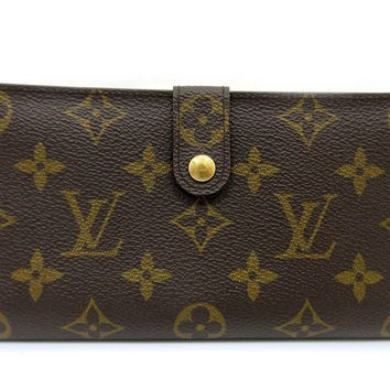 Auth Louis Vuitton Monogram Continental Clutch T61217 Long Wallet With Box 51905