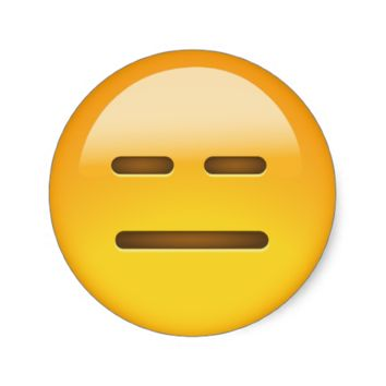 Expressionless Face Emoji Round Stickers