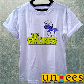 Low Price Women's Adult T-Shirt - Cute Disney Smurfs design