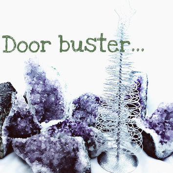 Door Buster, Black Friday, Cyber Monday, Cyber Week, Mystery Gift, Amethyst Cluster, Amethyst Cathedral, Natural Home Decor, Large Amethyst