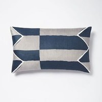 NWT West Elm Velvet Offset Stripe Pillow Cover
