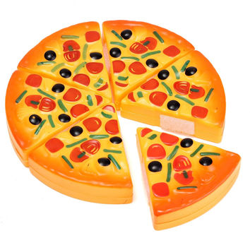 Artificial Pizza Slices Simulation Toy Children Dinner Kitchen Pretend Play Food Toy Birthday Child Kids Gift Brinquedo