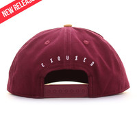 Royal Burgundy Duck Canvas Snapback | The Exqused®