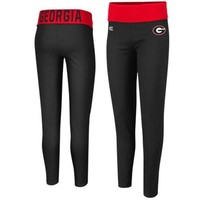 Georgia Bulldogs Ladies Pivot II Yoga Leggings - Black/Red