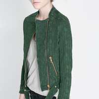 JACQUARD JACKET WITH ZIPS - Blazers - Woman | ZARA United States