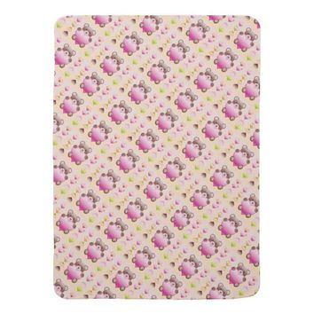 Baby Bear With Heart Baby Blanket