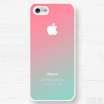 iPhone 5 4 Ombre Case - Gradient Fade  - Samsung Galaxy s3, s2, ipod touch - Pink Mint Green Pastel  - 1A