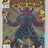 Guardians of the Galaxy; V1, 25. (Prismatic Foil Cover)  NM+.  June 1992.  Marvel Comics