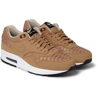 Nike - Air Max 1 Woven-Leather Sneakers | MR PORTER