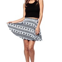 Egyptian Elephants Skater Skirt