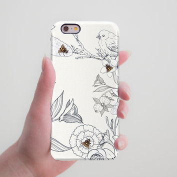 Bird iPhone 6 Cute Case iPhone 6 Plus Phone Case iPhone 6S Plus Phone Case iPhone 5 5S Phone Case iPhone 5C Case Insect Galaxy S5 Phone Case