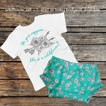 Wildflower Set - Boho Baby Outfit and Bummies