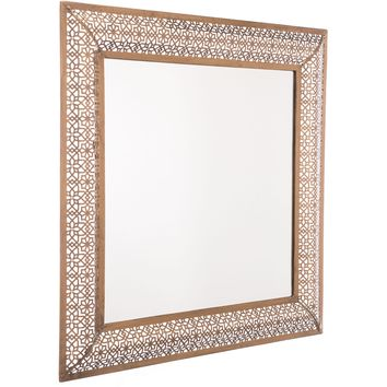 Antique Gold Moroccan Escamas Wall Mirror