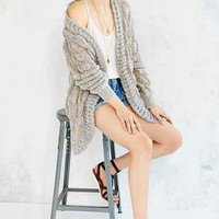 UNIF Striped Open- Front Cardigan
