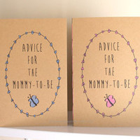 Baby Shower Book - Advice For The Mommy-To-Be