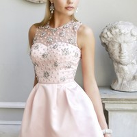 Beaded Pleated Dress by Sherri Hill
