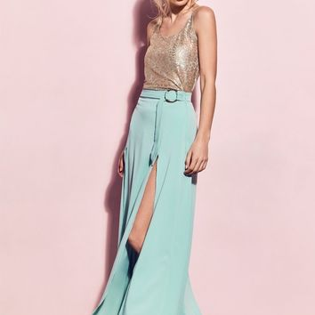 Matea Designs BILLIE Lime Green Maxi Skirt | Pre-order dispatch 11th Dec