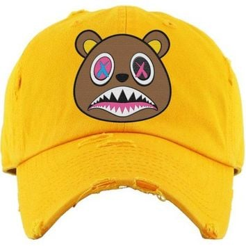 Crazy Baws Yellow Dad Hat