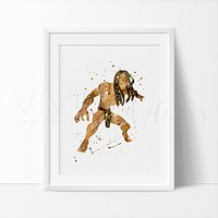 Tarzan Watercolor Art Print