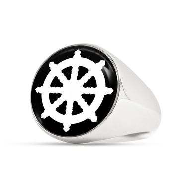 Dharma Wheel v2 - Luxury Signet Ring