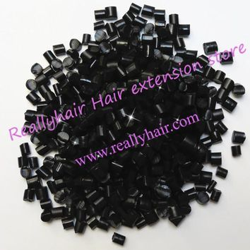 Free shipping 1kg Keratin Glue Granules Beads Grains Hair Extensions Black color for I tip/ U-tip hair