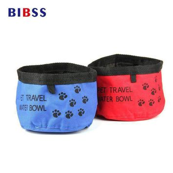 Foldable Feeding Pet Dog Bowl for Food Oxford Drinking Cat Water Bowl for Puppy Dogs Pet Treats Feeder Products Supplies