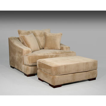 Sage Avenue Cameron Chair and a Half and Ottoman