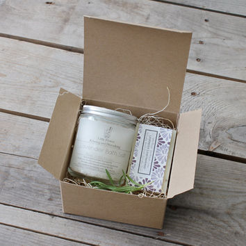 Relax and Restore Set / lavender soap detox bath salts / spa gift for her /bath and beauty body