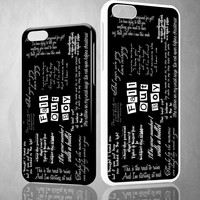 Finished Fall Out Boy X1258 iPhone 4S 5S 5C 6 6Plus, iPod 4 5, LG G2 G3 Nexus 4 5, Sony Z2 Case