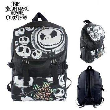 Nightmare Before Christmas Style 2 Nylon Waterproof Laptop Shoulder / Schoolbag Backpack