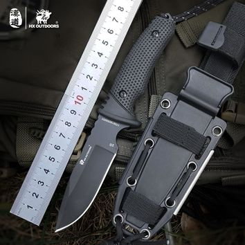 D2 Knife Hunting Knives Pocket knife Tactical Knifes Survival Camping Outdoor fishing harpoon EDC Tool