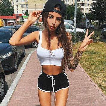 2017 Summer Sexy Fashion Shorts women lace up pole dance bermuda feminina causal Breathable pantalones cortos mujer