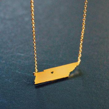 'Tennessee' Gold Necklace