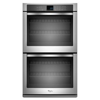 Whirlpool 27 in. Double Electric Wall Oven Self-Cleaning in Stainless Steel-WOD51EC7AS - The Home Depot