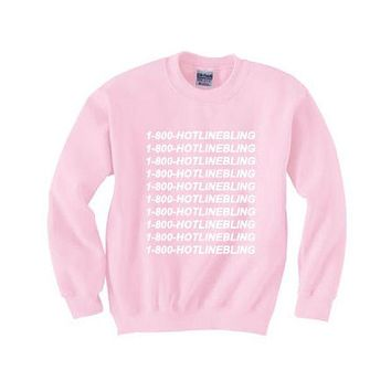 DCCKJ1A [1-800 hotline bling] sweater pink new personalized letters sweater