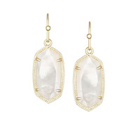 Kendra Scott Dani Ivory Mother of Pearl Earrings Gold