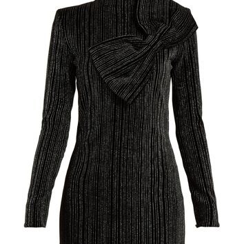 Striped Lurex cotton-blend mini dress | Balmain | MATCHESFASHION.COM US