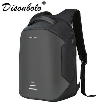 2017 Urban Backpacks Men USB Charge Laptop Backpack Minimalist Fashion Anti-theft Backpack Casual Mochila Waterproof Travel Bag