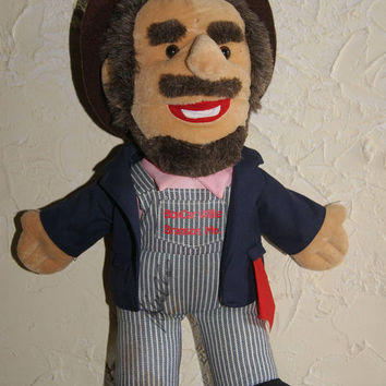 Collectible BOXCAR WILLIE Replica Soft Stuffed Doll By Animal Fair Inc SIGNED By Boxcar Willie