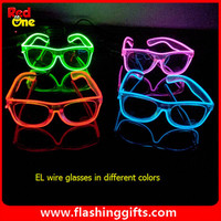 Flashing light up glasses/El glasses with multi colors for Rave sunglasses Fashion Party light